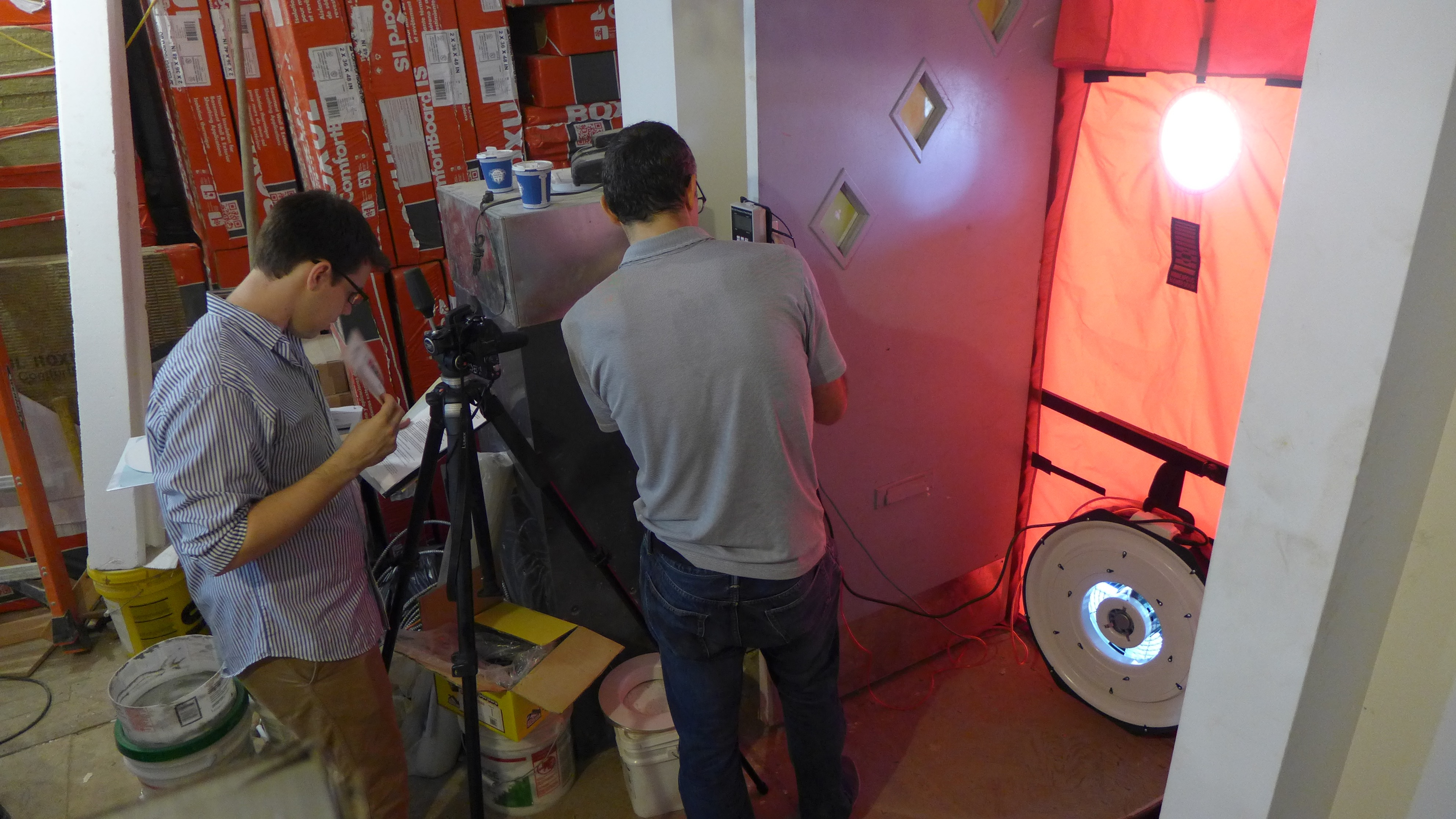 Ditmas Park undergoing its first blower door test in July